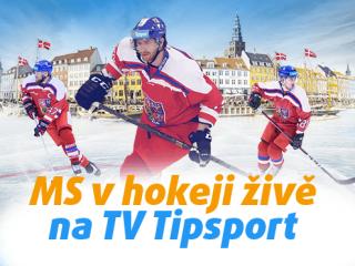 Sledujte MS v hokeji 2018 živě na TV Tipsport